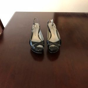 Marc Fisher Black Patent Wedges Size 6 1/2